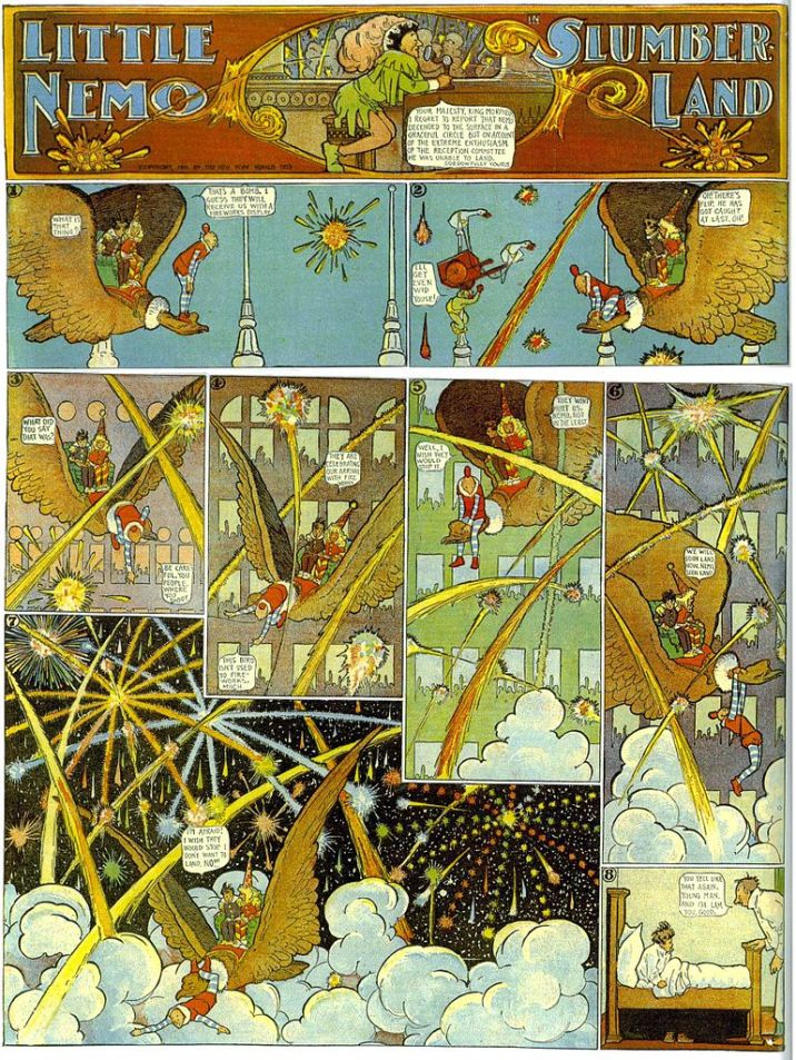 """Little Nemo in Slumberland"" panel, by Winsor McCay"
