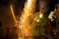 A plume of fireworks surrounds a reveler at the festival of Parrandas in Remedios, Cuba. Photograph by Paolo Pellegrin, National Geographic