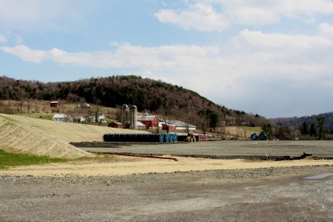 Photo by Maureen Plitt. A natural gas drilling site in northern Pennsylvania.