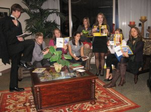 The Fall 2010 Geography Interns take reading National Geographic Magazine seriously—very seriously. Photograph by Laura Newcomer.