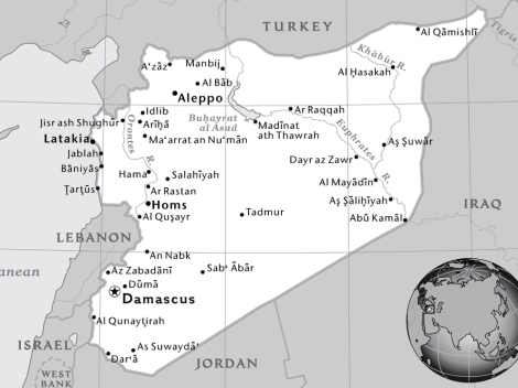 Syria has traditionally been a destination for refugees, not their origin. 1-Page Map by National Geographic Maps