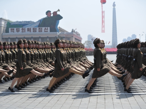 North Korea (officially the Democratic People's Republic of Korea) has been flexing its military muscle since Supreme Leader Kim Jong-un took office in 2011. Photograph by Adelin Petrisor