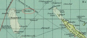 Sandy Island, part of cartographic history for more than a century, Sandy Island does not actually exist—and probably never did. This Tumblr site provides some of these historic maps of Sandy Island.