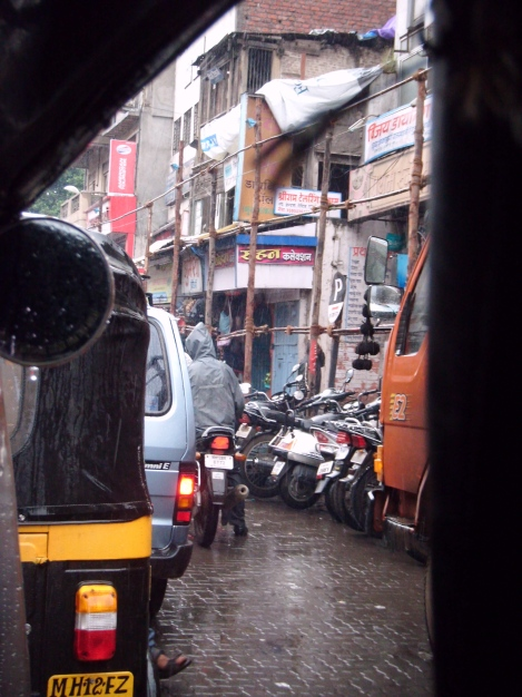 View from a rickshaw. Pune, India