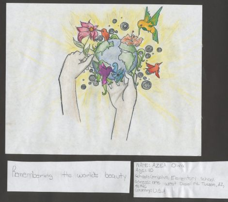 """Remembering the World's Beauty"" by Azea Oliva from Tucson, Arizona, age 10"