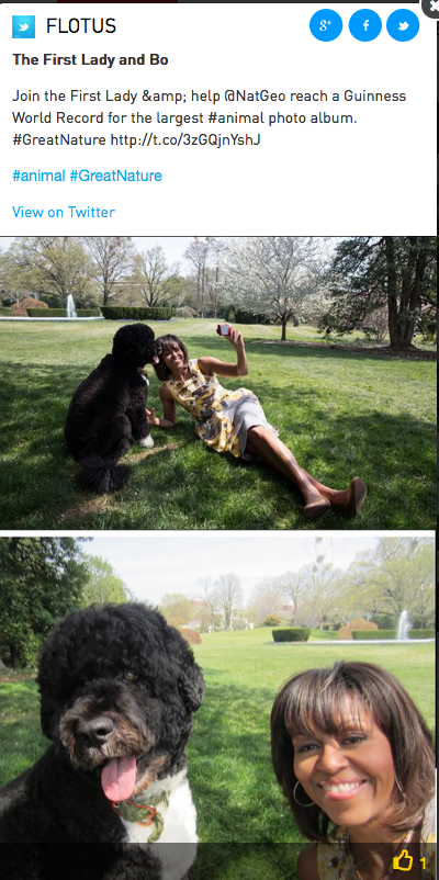 Photo by FLOTUS, Twitter
