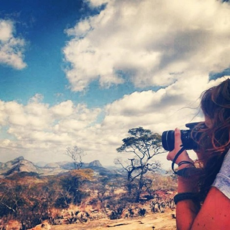 Photograph of Ellen Esling by Brooke Patton; view of wild Mutoko, Zimbabwe.