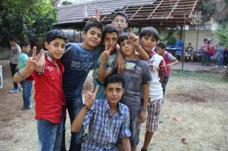 National Geographic Emerging Explorer Aziz Abu Sarah recently returned from weeks spent at a summer camp for Syrian children at a refugee camp in Turkey, where he took this photo of boys being boys. Photograph courtesy Aziz Abu Sarah, National Geographic