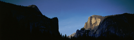 Half Dome Mountain at sunset.
