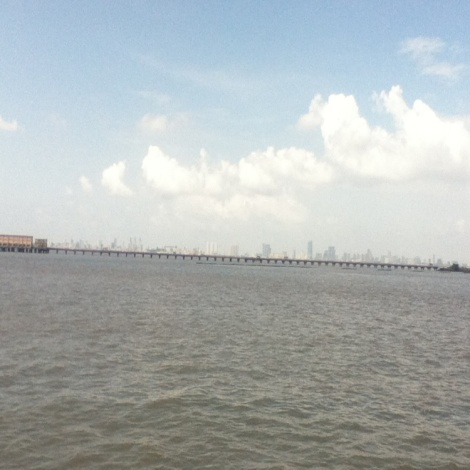 Photograph by Alankrita: Mumbai Skyline from Elephanta Island