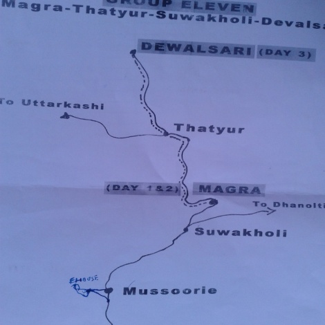 Photo by Dr. Prasanna Sriya; Trail Map