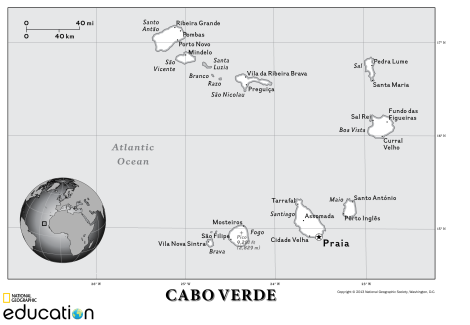 A map of Cabo Verde