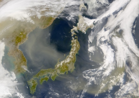 This gorgeous view of the disputed sea in East Asia was taken by NASA's Sea-viewing Wide Field-of-view Sensor (SeaWiFS) Project in 2002. Image courtesy the SeaWiFS Project, NASA/Goddard Space Flight Center, and ORBIMAGE
