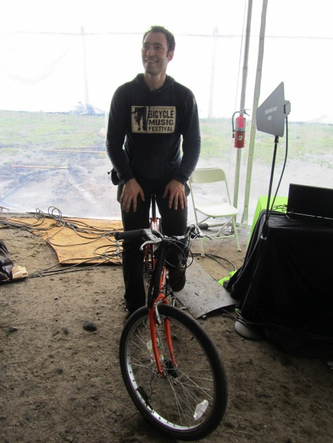 Rock the Bike's Paul Freedman powers those pedals. Photograph by Stuart Thornton, National Geographic