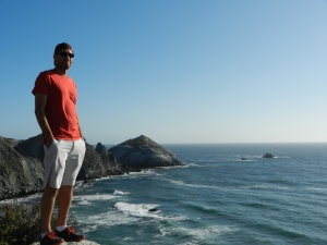 Eric enjoying the scenery in Big Sur, California. Photo by Maria Alejandra Rivera.