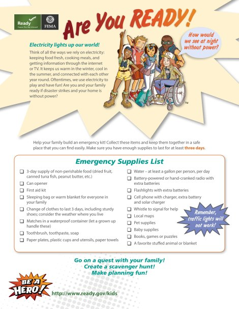 Emergency Kit Checklist for Kids