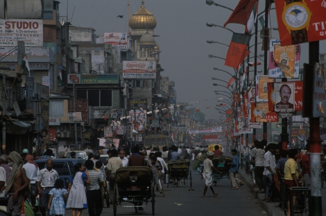 A view of the main street in Old Delhi, India. Photograph by James L. Standfield/National Geographic Creative
