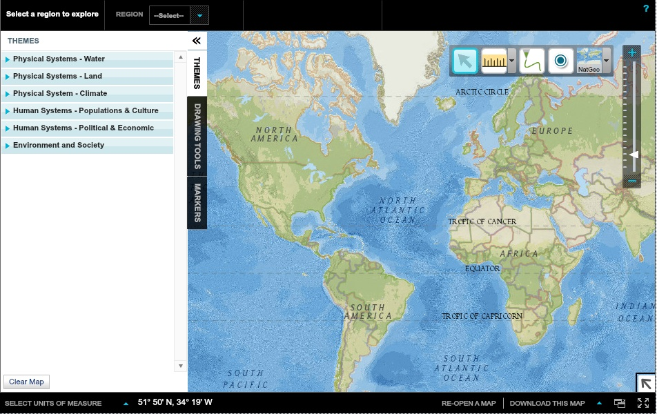 Mapping monday mapmaker interactive tutorials the mapmaker interactive is an online mapping tool available at natgeoed map features gumiabroncs Images