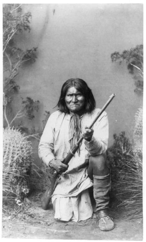 Geronimo, whose Native American name was actually Goyathlay, was a Bedonkohe Apache chief of the Chiricahua Apache. He led his people in defense of their traditional homeland against the combined might of the U.S. and Mexican governments. He used the unforgiving landscape of the Organ Mountains-Desert Peak National Monument in New Mexico as an effective hideout. Photograph courtesy National Archives and National Geographic