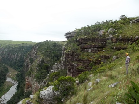 A student overlooks the Msikaba Gorge