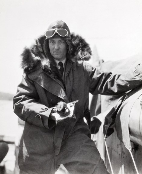 Legendary American explorer and aviator Richard Byrd used Bumstead's sun compass to help navigate the perilous skies of both the North and South Pole. Here, Byrd carries the sun compass on a 1925 expedition over the Canadian Arctic. Photograph by Maynard Owen Williams, National Geographic