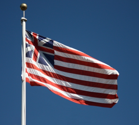 The Grand Union Flag. Photograph courtesy Makaristos, Wikicommons