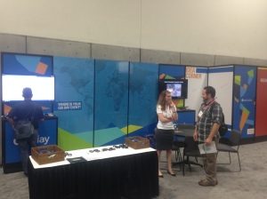 The GIS Day/Geography Awareness Week Booth at the 2014 Esri User Conference