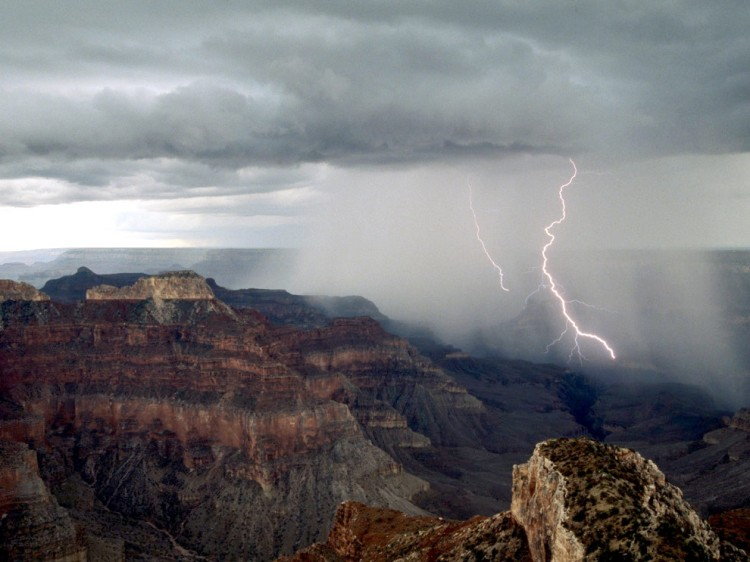 Lighting in Grand Canyon, Photograph by Michael Nichols, National Geographic