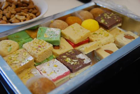"Enjoy some Indian treats—Diwali is sometimes nicknamed the ""Festival of Sweets""! Click here for some mouthwatering ideas! Photograph by Alpha, courtesy Flickr (CC BY-NC-SA 2.0)"