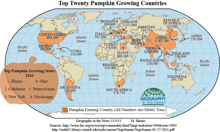 Geography in the News - Pumpkins