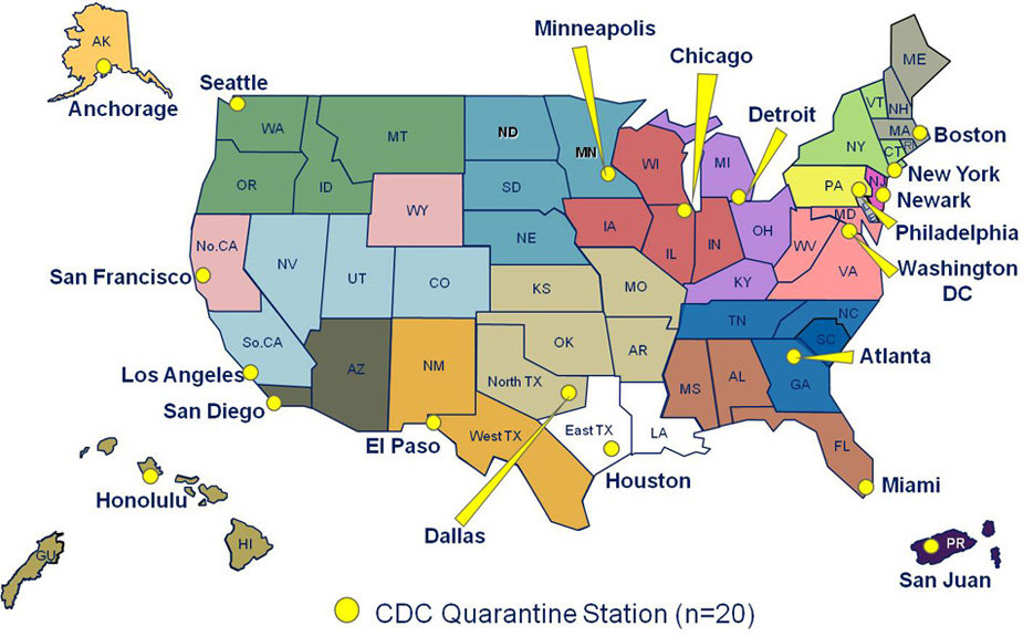 The Centers For Disease Control And Prevention Cdc Maintains 20 Quarantine Stations Across The