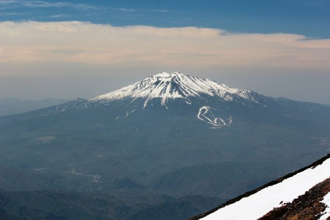 Mount Ontake is Japan's second-highest volcanic peak, second only to the similar-looking Mount Fuji. Photograph by Alpsdake, courtesy Wikimedia. This file is licensed under the Creative Commons Attribution-Share Alike 3.0 Unported license.