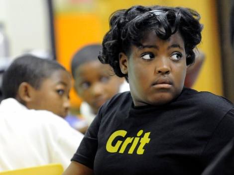 "Research psychologists measure ""grit"" by observing how much time and effort students are willing to put forth to accomplish a goal. Grit and self-control ""seem to determine the quality and quantity of effort students put forth,"" says Angela Duckworth. Photograph by Vikki Sloviter, courtesy KIPP Philadelphia Schools"