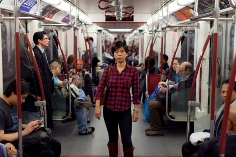 "Wales (born in the United States) is standing on the Toronto Subway, a public transit system she has a ""love-hate relationship with."" Photograph by Colin Boyd Shafer"