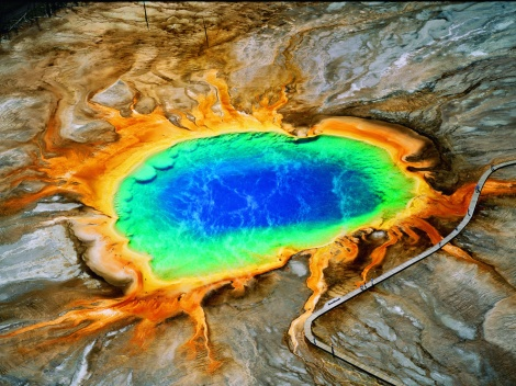 or Yellowstone, Montana? They're both big, beautiful volcanoes—and it's my map; I don't have to! Photograph by George Steinmetz, National Geographic