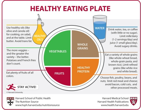 What is a healthy plate? Let the good folks at the Harvard School of Public Health and editors at Harvard Health Publications give you an idea. Click here to learn more.