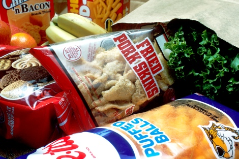 Which of these groceries would NOT be taxed by the Healthy Diné Nation Act? Photograph by Bill Branson, courtesy the National Cancer Institute