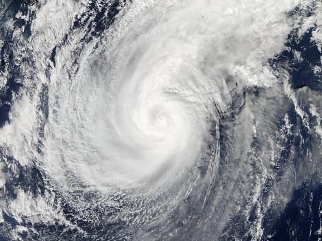 NASA's Aqua satellite captured this image of Typhoon Nuri before it slammed into the Aleutians over the weekend. The remnants of Nuri will bring a polar blast to much of the lower 48 this week. Click here for a great visualization of where the cold front is right now. Photograph by NASA Goddard MODIS Rapid Response Team