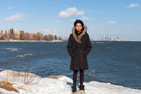 Saima (Born in Qatar) was the victim of long-term abuse. Down by Lake Ontario is where she would go to reflect and dream of a better future. Photograph by Colin Boyd Shafer