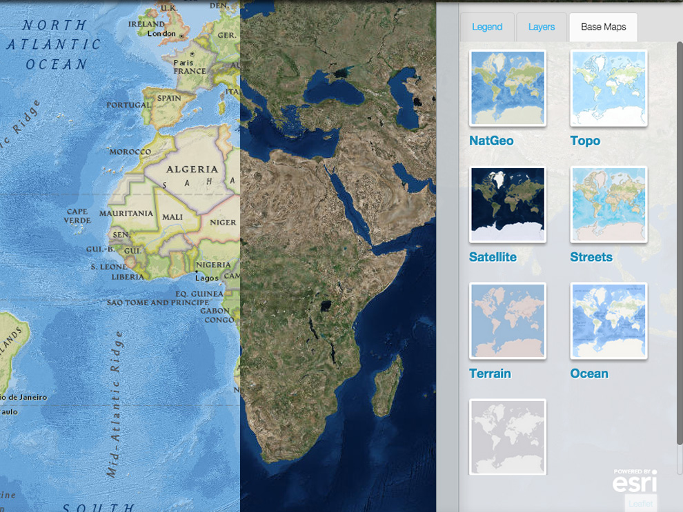 Harness the power of mapmaker interactive nat geo education blog select from a variety of different base map styles for different views of the world gumiabroncs Image collections