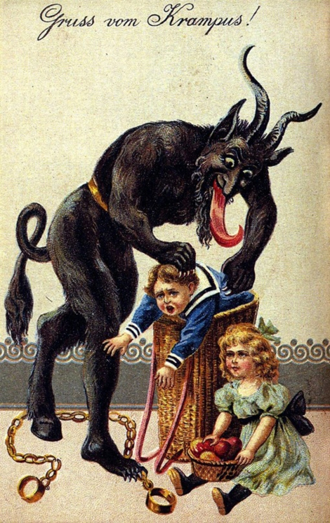 Krampus, though. Illustration courtesy Kohelet. This image is in the public domain.
