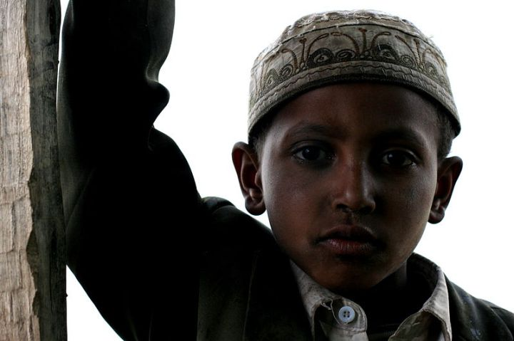 A Muslim child: do you see the differences from children in your region?  Do you see the similarities?