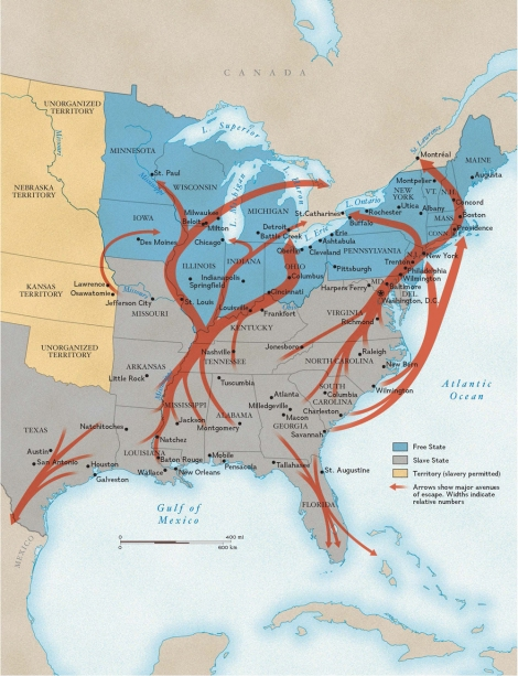 This terrific map shows general routes of the Underground Railroad, a series of loosely coordinated local networks helping African Americans escape enslavement in the mid-1800s. Map by National Geographic Maps