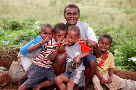 "Fijians, like these beautiful people in this beautiful photograph, ranked highest among the 65 nations polled the the annual ""Happiness Barometer"" conducted by WIN/Gallup. Photograph by Alex Kehr, courtesy Wikimedia. CC-BY-2.0"