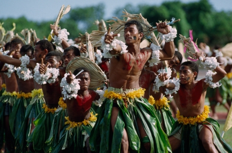 These Fijian dancers are happy to celebrate a victory over Tonga in a rugby tournament. Read more about rugby and how it defines the diverse nations dotting the South Pacific here. Photograph by James L. Stanfield, National Geographic