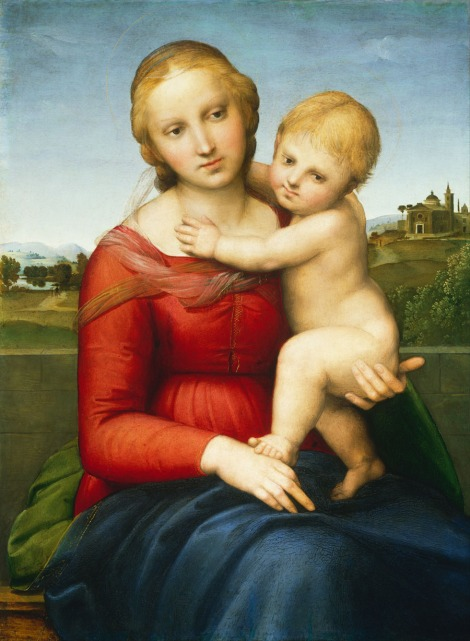 """Small Cowper Madonna,"" by Raphael (National Gallery of Art, Washington, D.C.)"