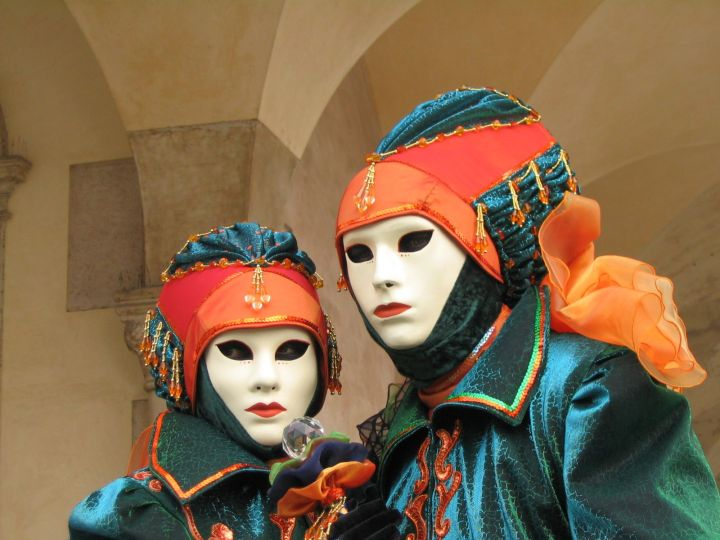 Carnival is celebrated in dozens of countries steeped in Catholic tradition. The Carnival of Venice, Italy, for example, is famous for its elaborate masks and Renaissance-inspired costumes. Photograph by Wanblee, courtesy Wikimedia. CC-BY-SA-3.0