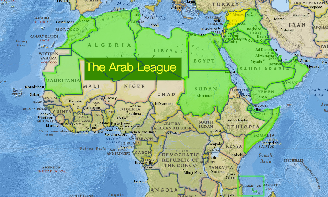 Arab League to Create Joint Military Force – Map Arab Countries