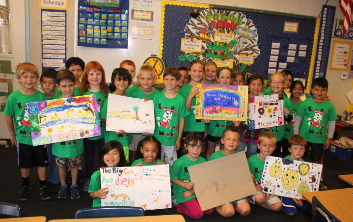 Photo of students, courtesy of Josie Herbert, Alta Vista Elementary School