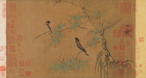 Chinese scientists and artists have been cataloging the life cycles of bamboo for more than 500 years. This spectacular scroll painting of finches on flowering bamboo branches was painted in the early 1100s by Huizong, an accomplished artist who had a nice day job as the Emperor of China. Ink on silk painting by Emperor Huizong, courtesy the Metropolitan Museum of Art